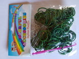 Colorful accessories Groen loomband